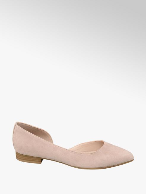 Graceland Lichtroze ballerina open geleng