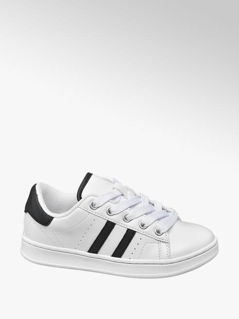 Bobbi-Shoes Witte sneaker vetersluiting