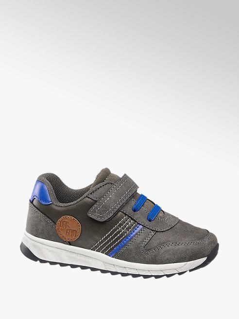 Bobbi-Shoes Grijze sneaker klittenbandsluiting