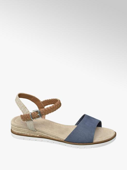 Graceland Blauwe sandaal touwzool