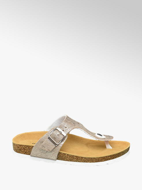 Graceland Beige slipper gesp