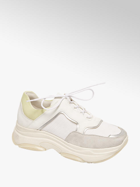 Graceland Lichtgrijze chunky dad sneaker