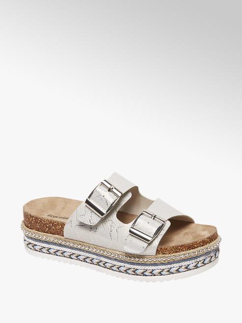 Graceland Zilveren pantolette gespen