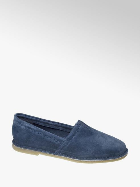 5th Avenue Blauwe suède loafer