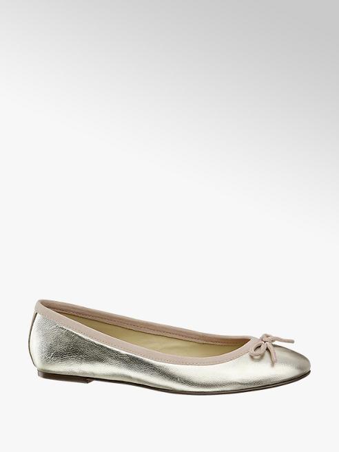 5th Avenue Gouden leren ballerina strik