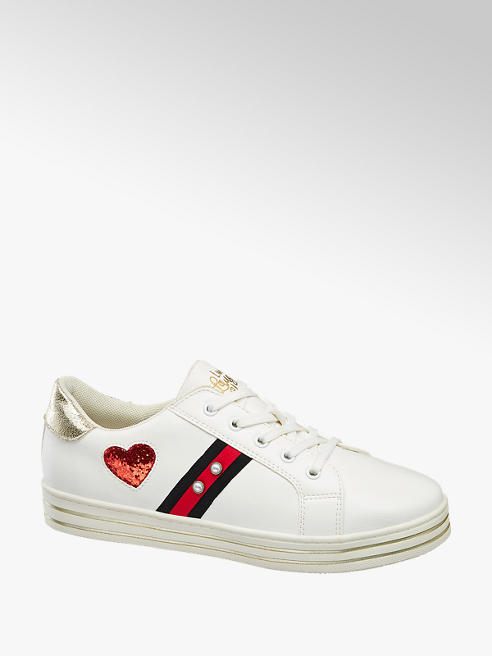 Graceland Witte sneaker vetersluiting