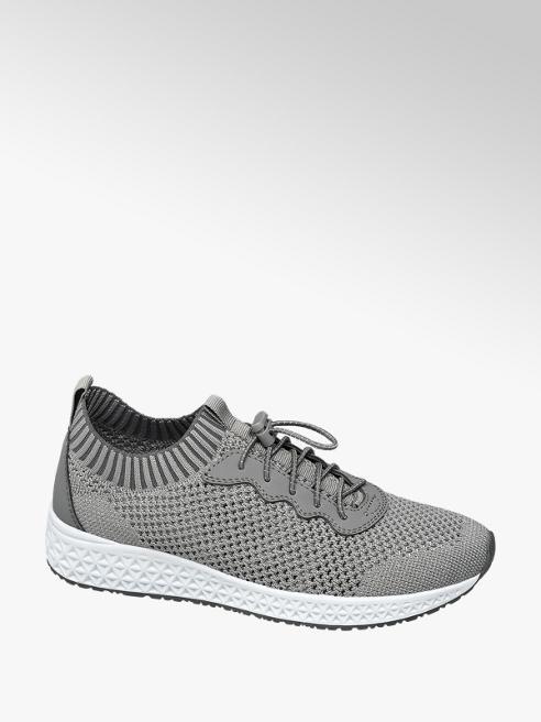 Venice Grijze knitted lightweight sneaker