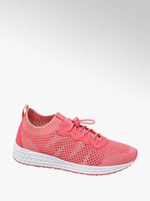 Venice Roze knitted lightweight sneaker