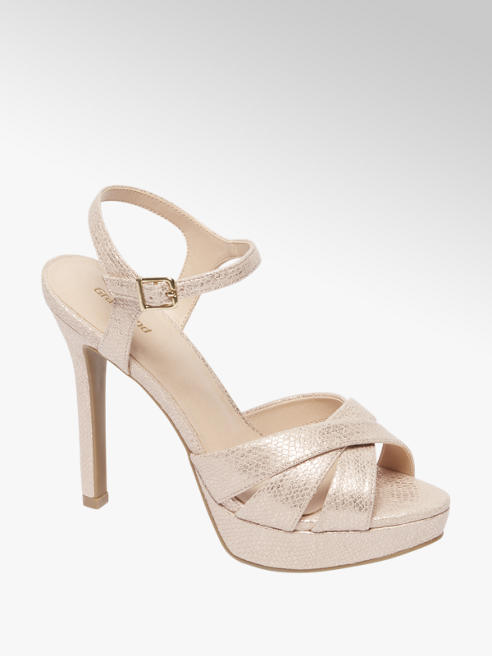 Graceland Roze open glitter pump
