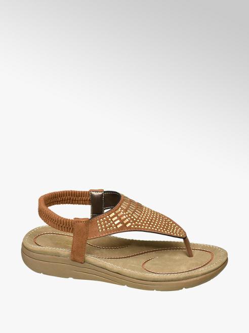 Björndal Cognac sandaal studs