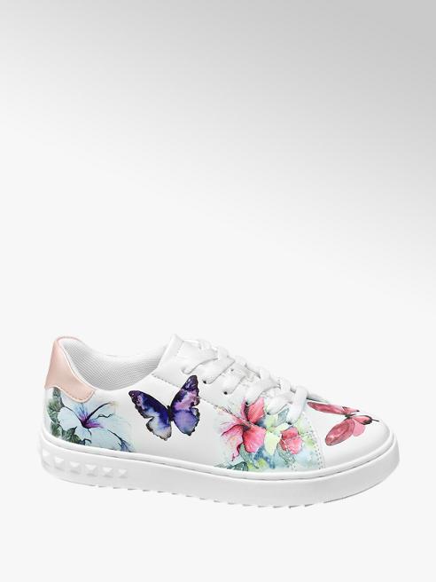 Graceland Witte sneaker bloemen