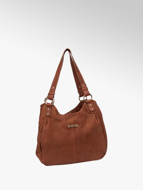 5th Avenue Cognac Leather Shoulder Bag