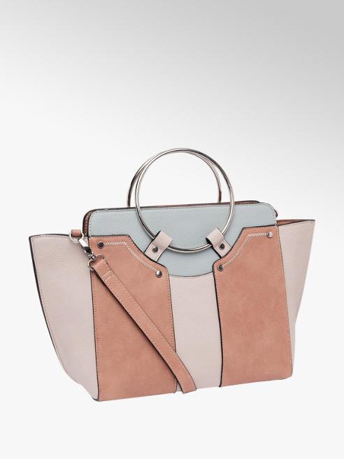 Graceland Hoop Handle Panel Tote Bag