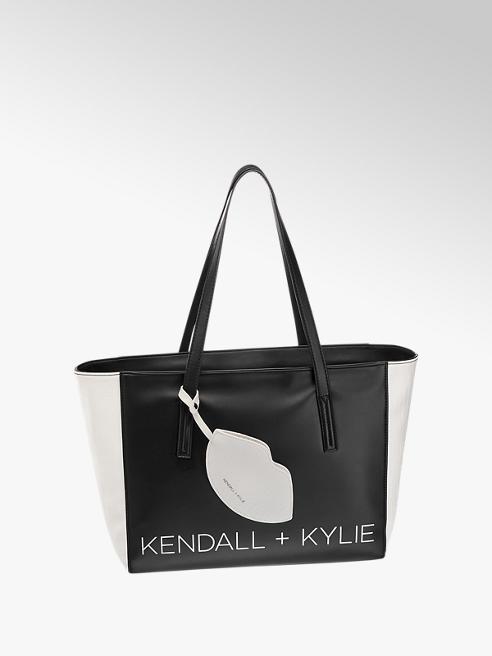 Kendall + Kylie Zwarte shopper contrast