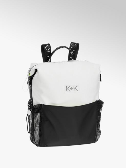 Kendall + Kylie Witte rugtas zwart vlak