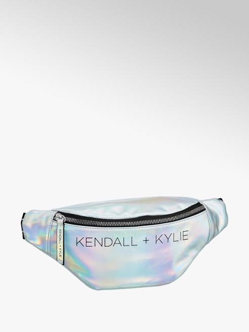 Kendall + Kylie Zilveren fannypack contrast
