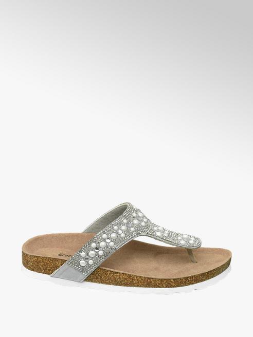 Graceland Zilveren slipper stenen