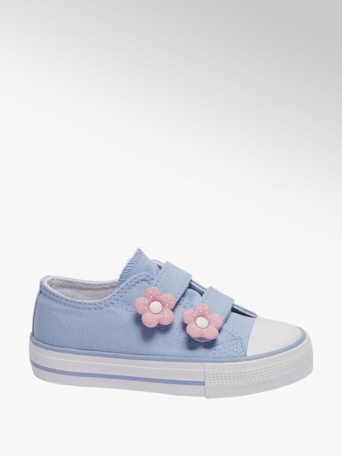 Cupcake Couture Blauwe canvas sneaker klittenband