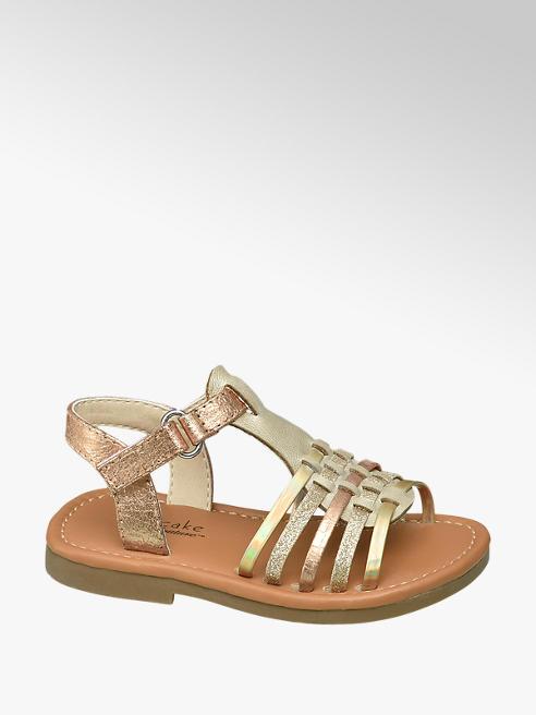 Cupcake Couture Gouden sandaal klittenbandsluiting