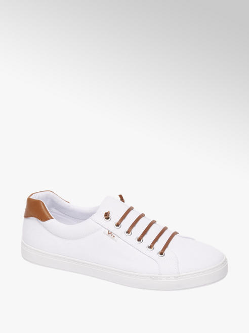 Vty Witte canvas sneaker slip on