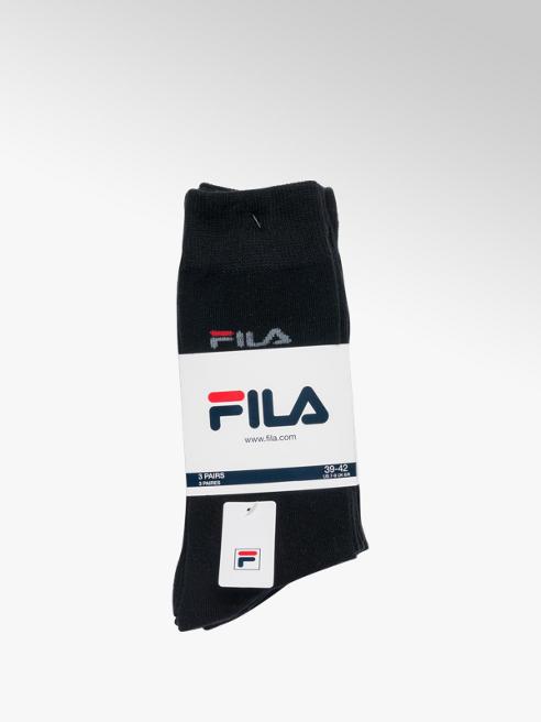 Fila Mens Fila 3 Pack Black Business Sports Socks (39-42)