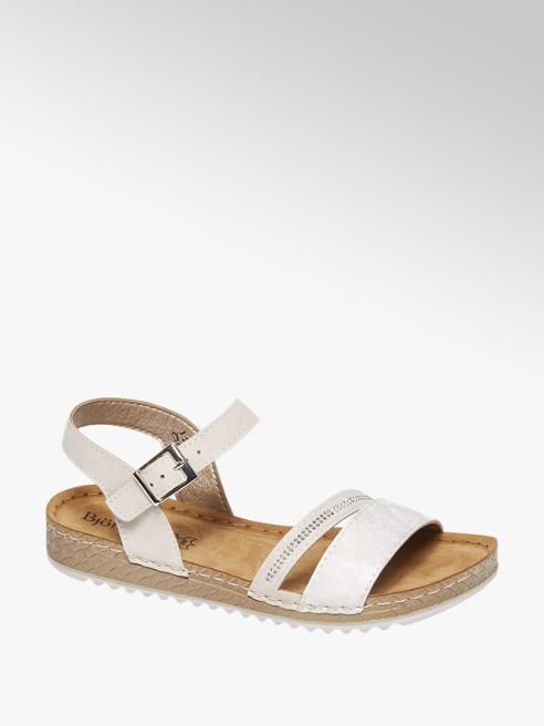 Björndal Witte sandaal leren voetbed