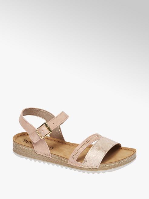 Björndal Roze sandaal leren voetbed