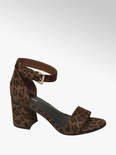 Graceland Leopard sandalette gespsluiting