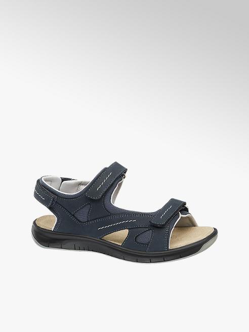 Medicus Donkerblauwe leren sandaal