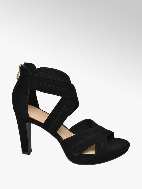 5th Avenue Zwarte sandalette suede