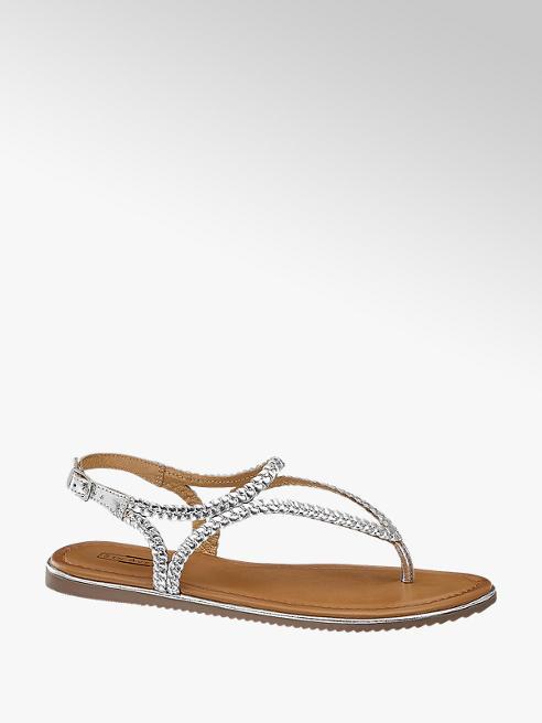 5th Avenue Zilveren sandaal leer