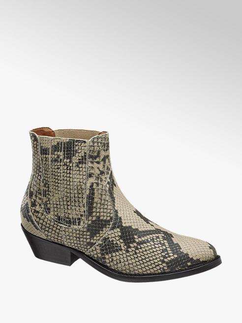 Catwalk Læderboots Reptil-Look