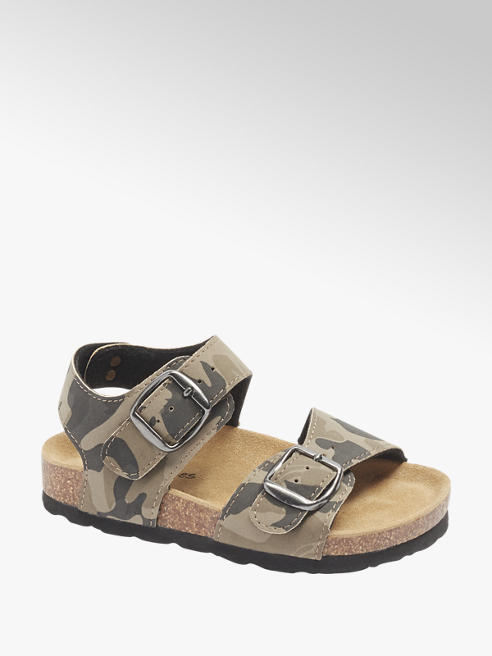 Bobbi-Shoes Camouflage sandaal gespsluiting
