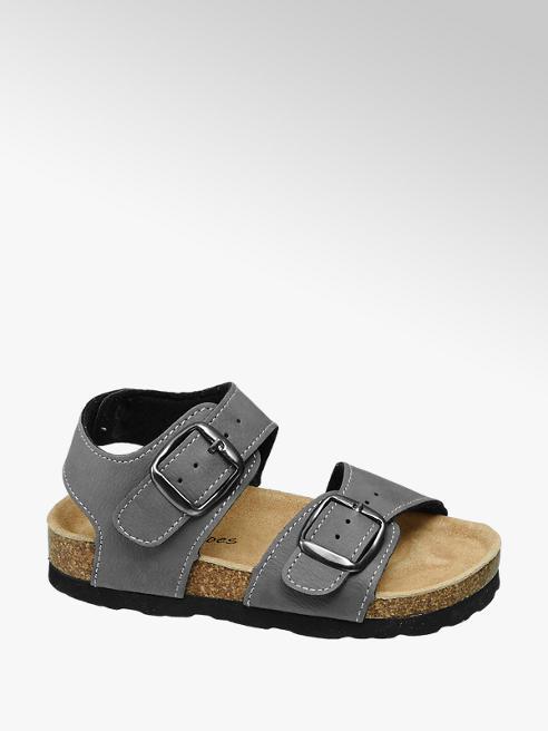 Bobbi-Shoes Grijze sandaal gespsluiting