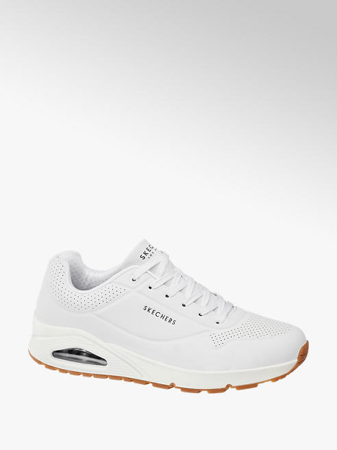 Skechers Witte sneaker vetersluiting