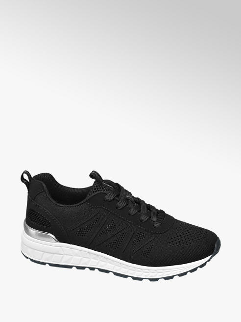 Graceland Black Lace Up Casual Trainers