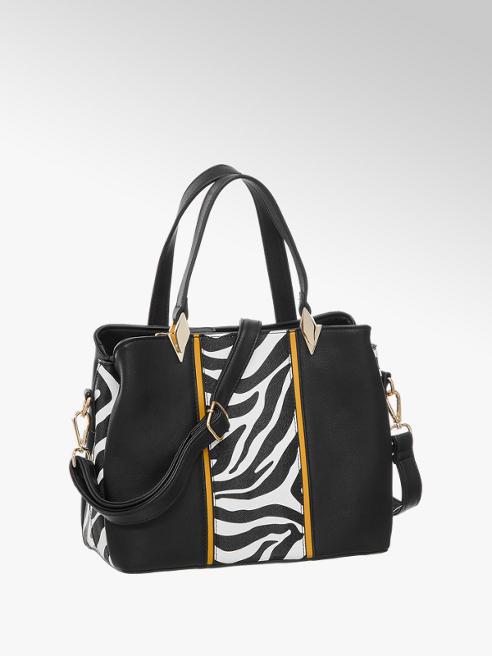 Graceland Zwarte schoudertas zebra