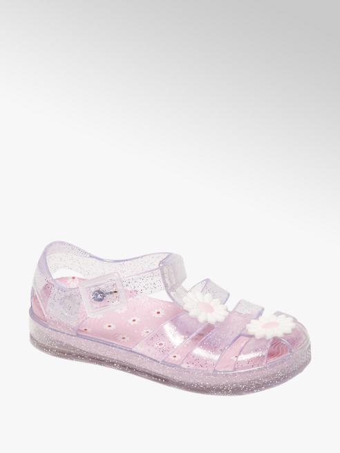 Glitter waterschoen bloem