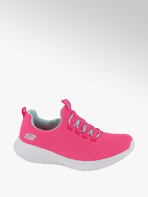 Skechers Roze sneaker elastische veter