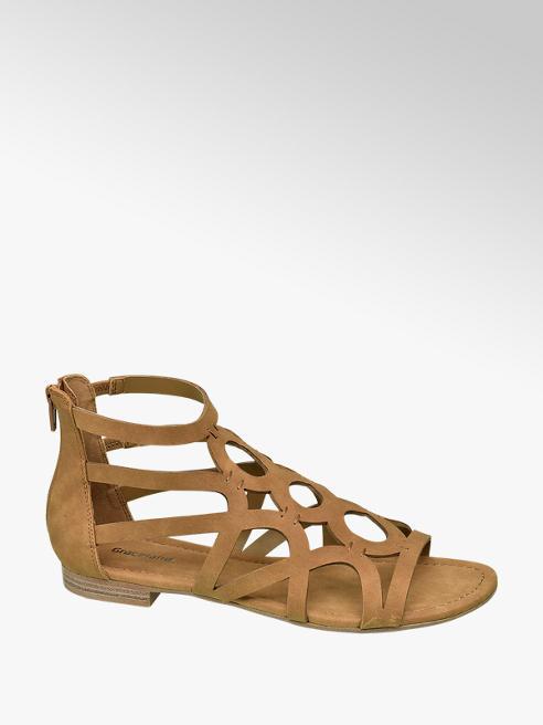 Graceland Cognac sandaal bandjes