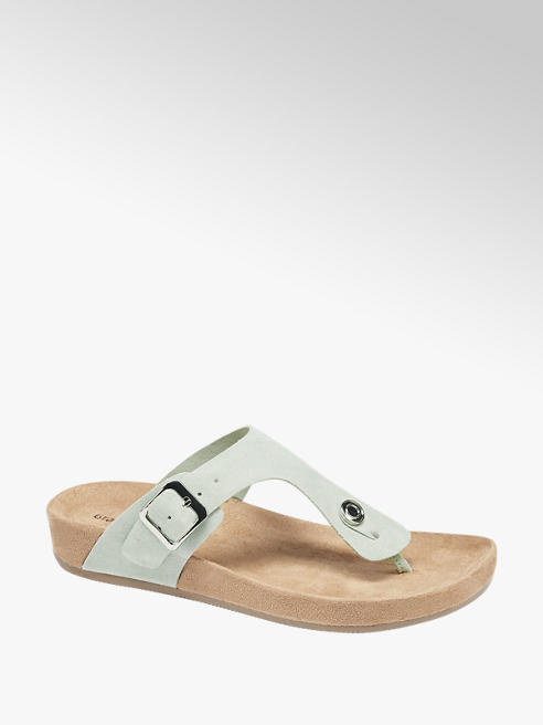 Graceland Mint Toe Post Footbed Sandals