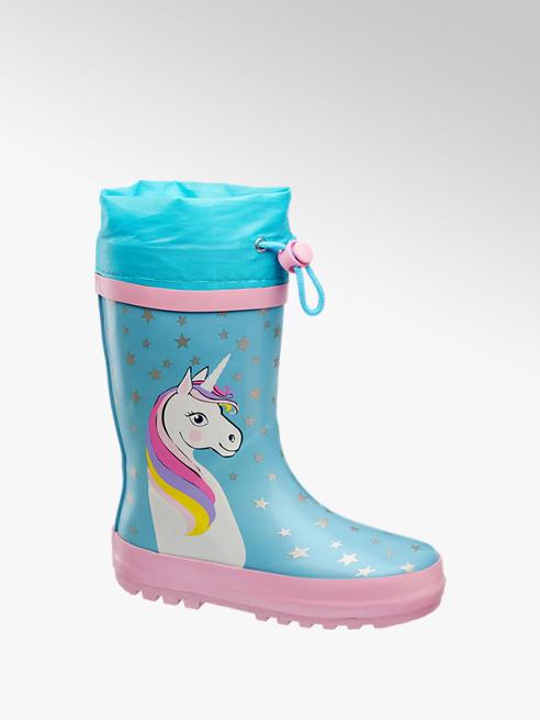 Cortina Lichtblauwe regenlaars unicorn