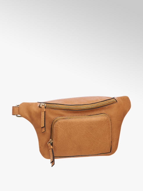 5th Avenue Cognac leren fannypack