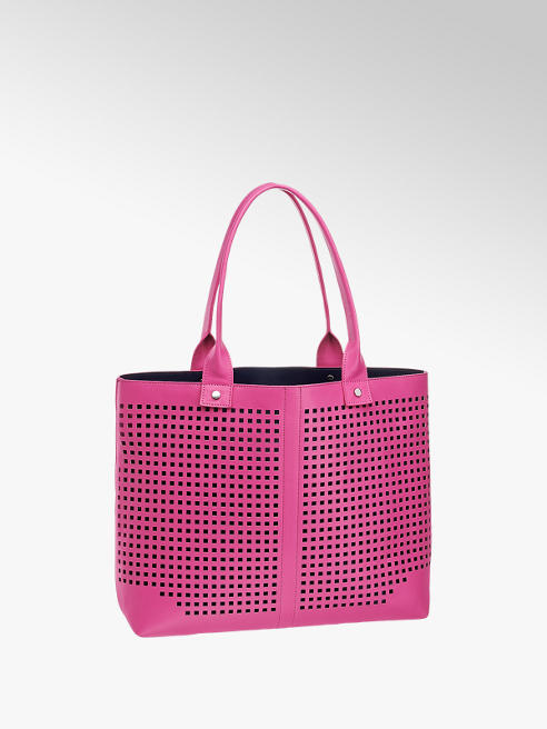 Graceland Fuchsia shopper perforatie