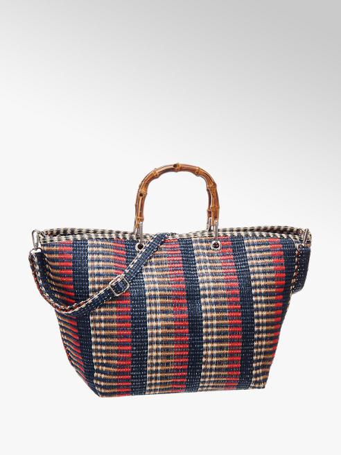 Graceland Blauw/rood/beige shopper