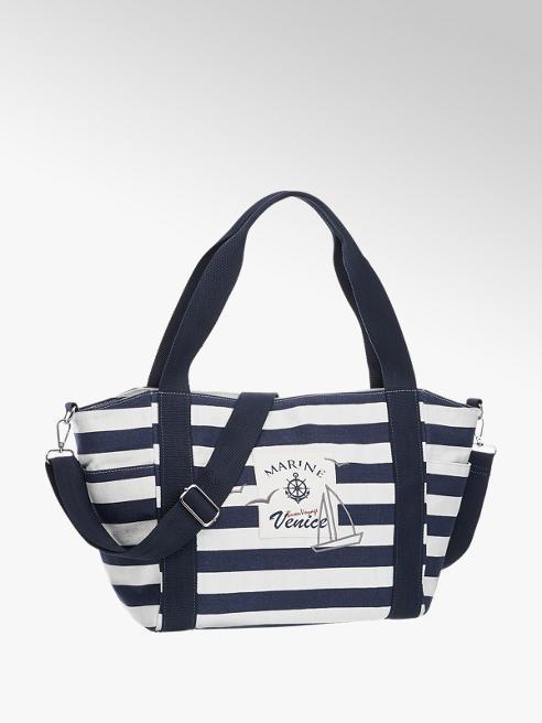 Graceland Blauw/witte shopper