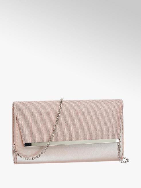 Graceland Rosé clutch glitters