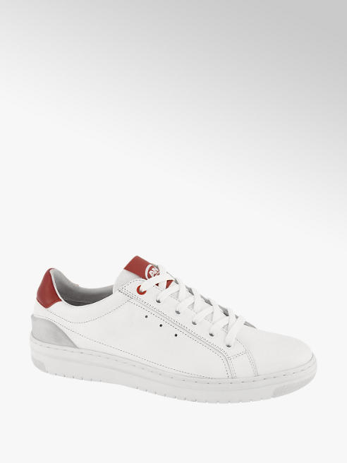 AM shoe Witte leren sneaker vetersluiting
