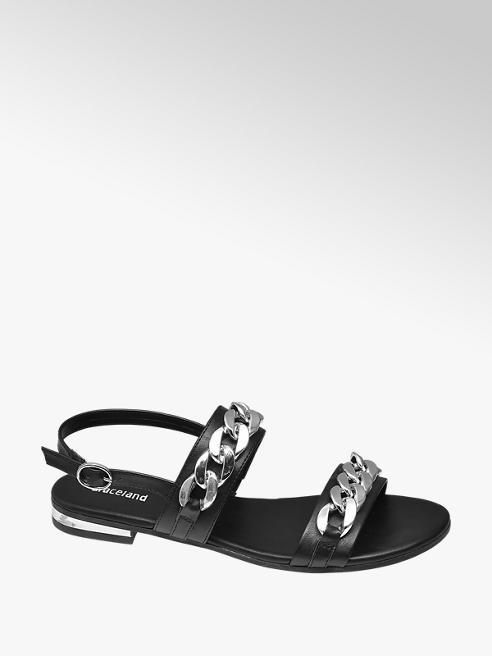 Graceland Zwarte sandaal ketting