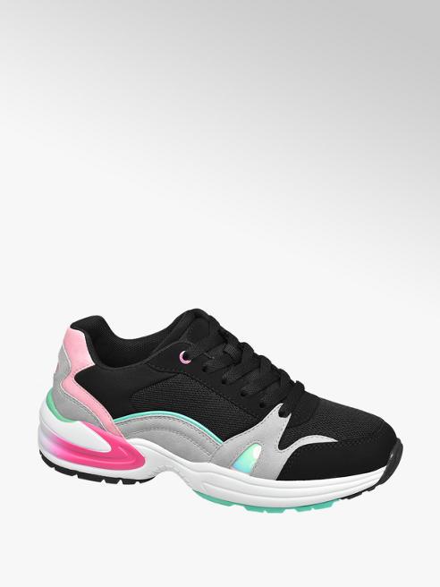 Graceland Zwart/grijze chunky sneaker